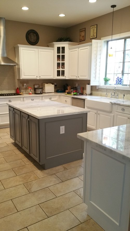 White and Grey Kitchen Reface Phoenix
