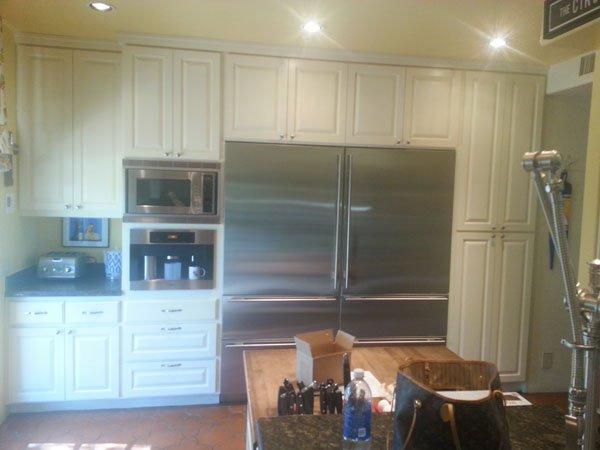 huge stainless steel fridge