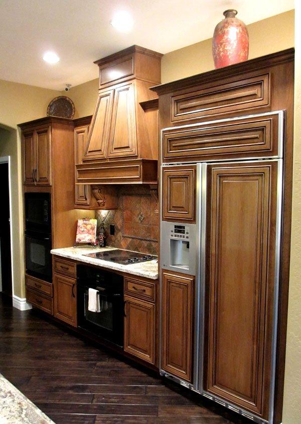 custom wood refrigerator
