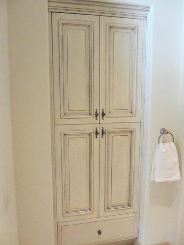 white elegant cabinet refacing