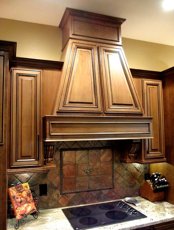 beautiful refaced wood cabinets