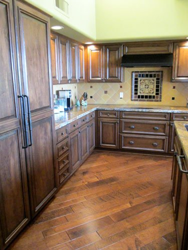 wood cabinets after refacing