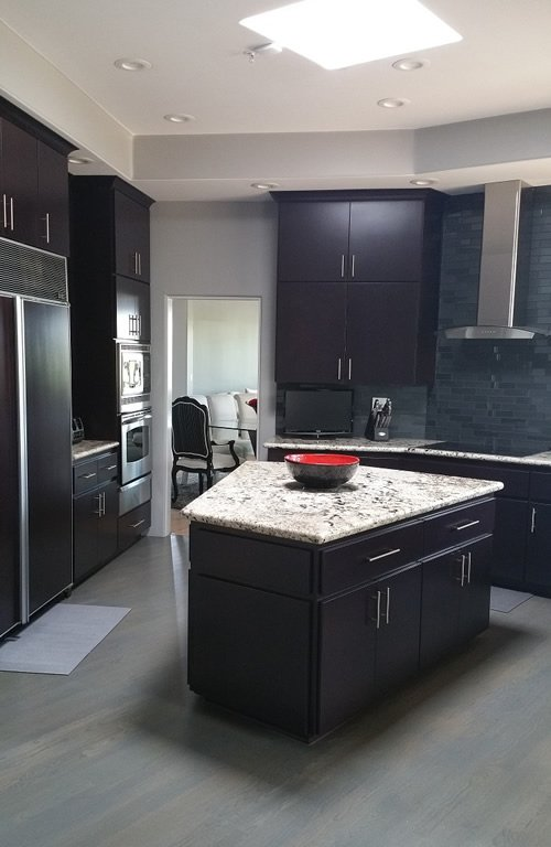 Dark Burgundy Contemporary Scottsdale Kitchen Reface
