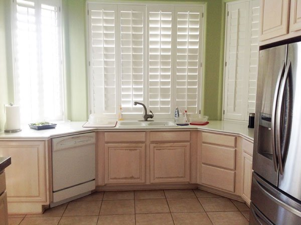large simple kitchen before remodeling