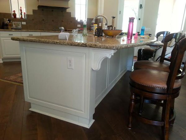 white kitchen counter before remodeling