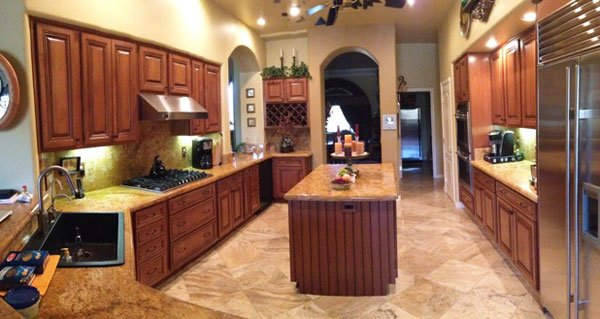 custom kitchen cabinet refacing results