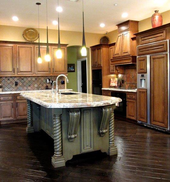 beautiful custom white kitchen island
