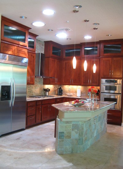 Better Than New Scottsdale Kitchen Reface BEFORE with Custom Double Stacked Cabinets