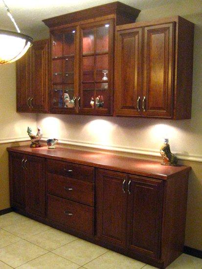 elegant refaced wooden cabinets