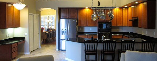 refaced cabinets and refinished countertops