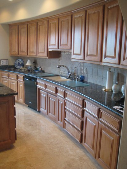 Large Spacious Kitchen After Cabinet Refacing