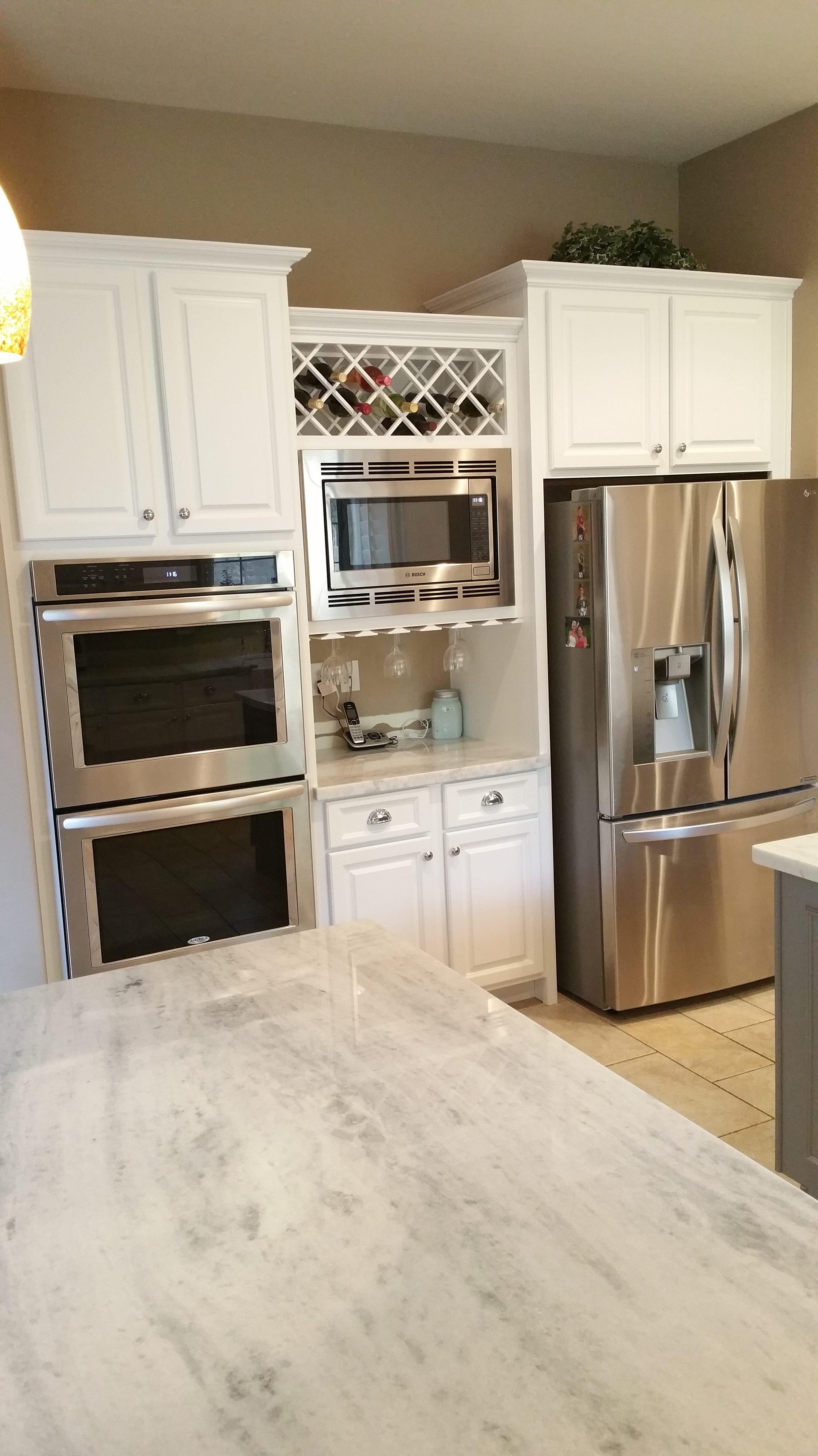 Scottsdale Kitchen Reface Custom Wine Rack Better Than New White Kitchen  Cabinets