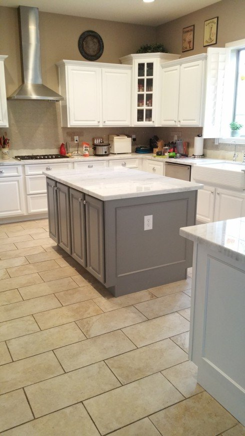 Whats New In Kitchen Island Style Trends Better Than New Kitchens - Accent color for grey and white kitchen