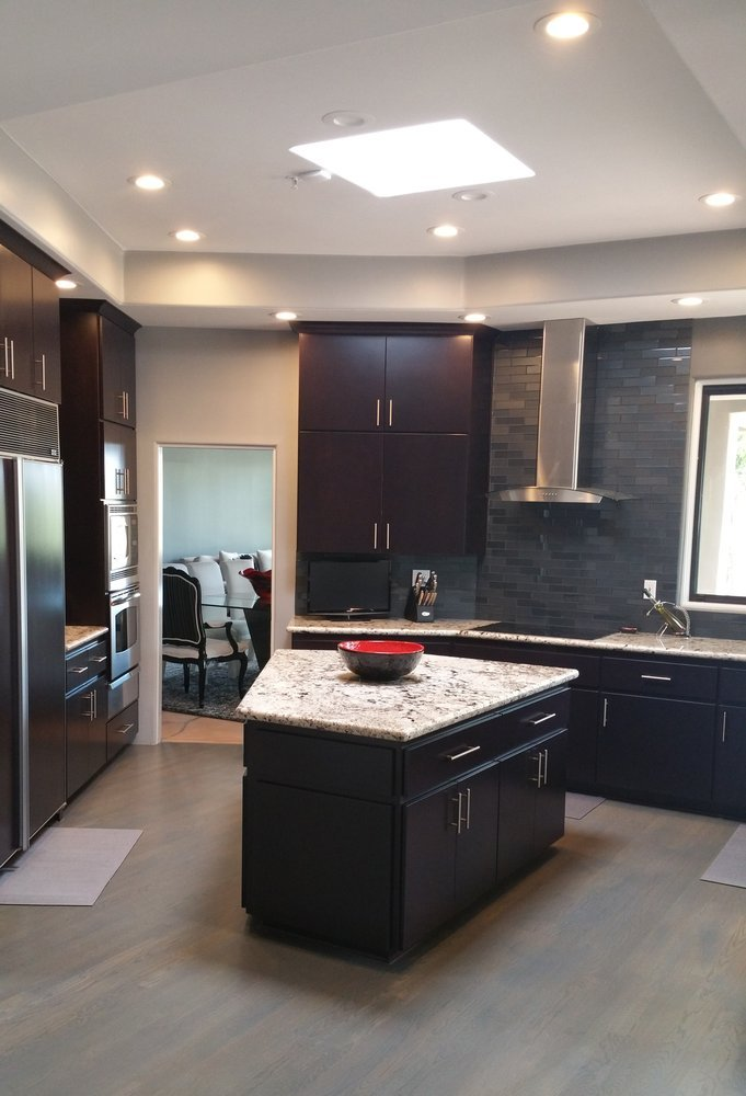 Modern Kitchen AFTER Kitchen Reface custom Stacked Upper Cabinets