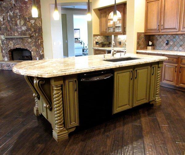 After kitchen reface island custom phoenix scottsdale arizona