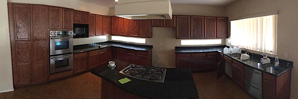 Before Gilbert Kitchen Refinish   Oak Cabinets