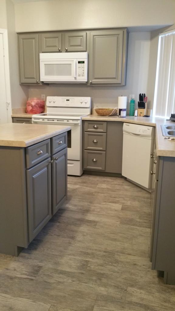 Grey White Custom Kitchen - Better Than New Kitchens
