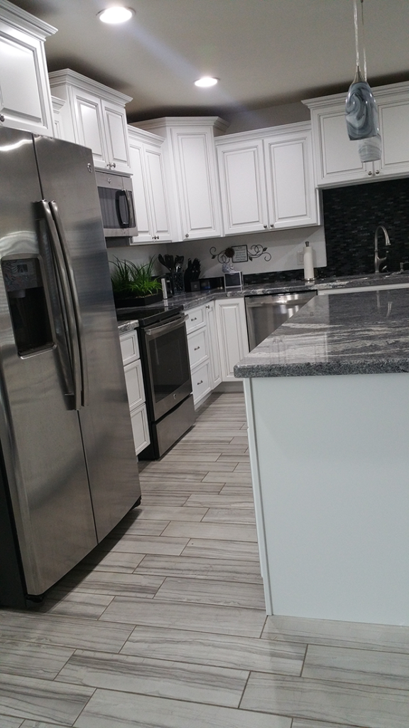 Antique White Kitchen Cabinets 4 - Better Than New Kitchens Scottsdale