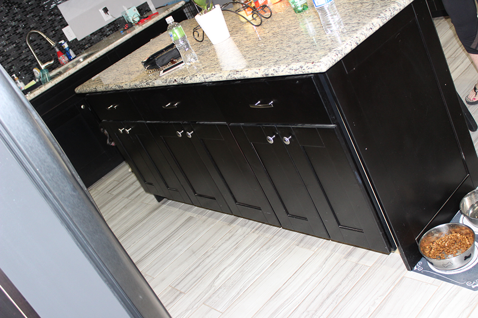CCB1 BEFORE Dark Kitchen Cabinets Better Than New