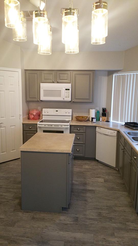 Grey Painted Kitchen Scottsdale