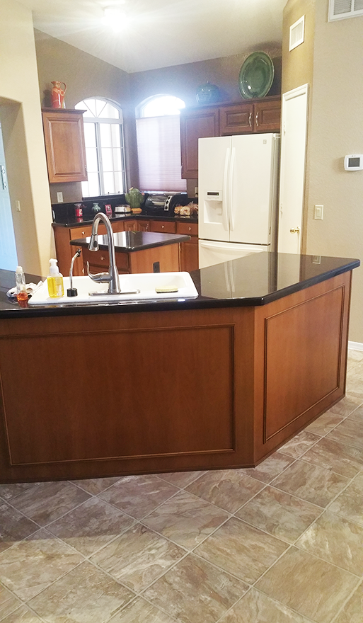 Phoenix kitchen reface medium brown raised panels Better Than New
