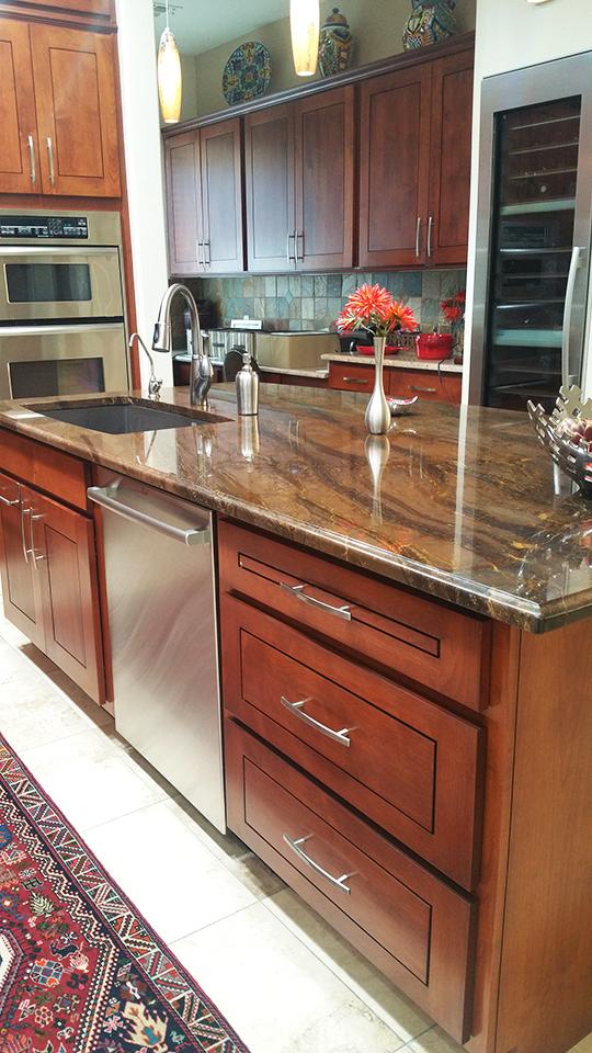 ZA6 S Custom Shaker Door Kitchen Scottsdale Better Than New Reface